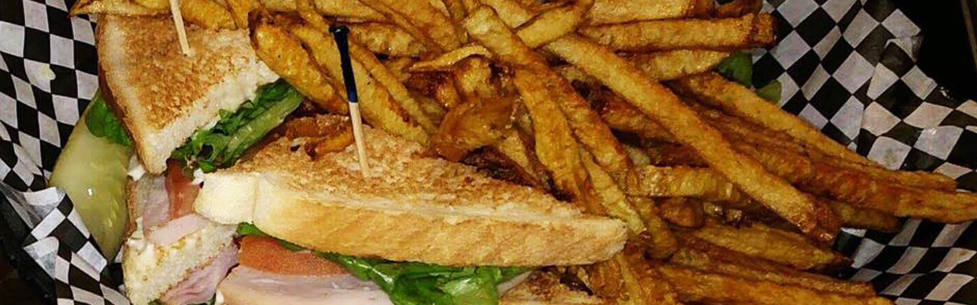 Sandwich and Fries in Basket